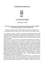 Comunicato Stampa ufficiale n.566 del Comune di Ragusa sull'evento tenutosi il 13/07/2019