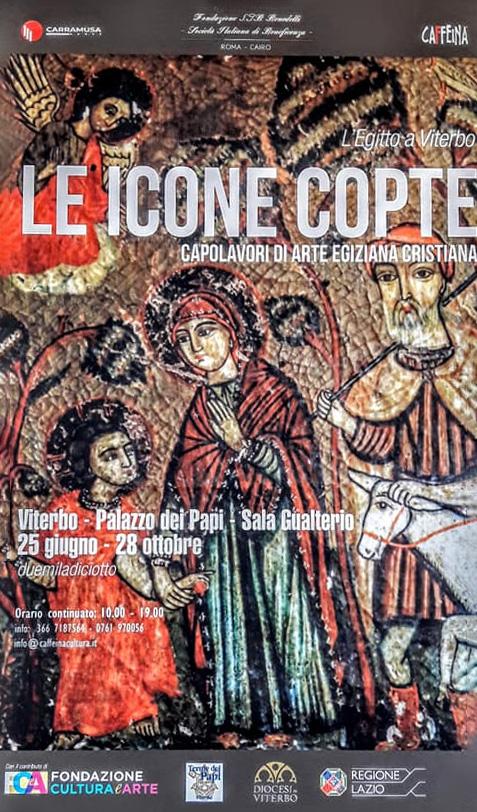 """Locandina della mostra """"Le icone Copte - Capolavori di arte egiziana Cristiana"""""""