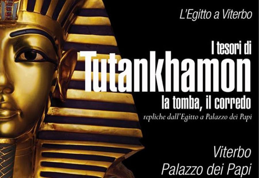 """Locandina della mostra """"I tesori di Tutankhamon - La tomba, il corredo"""""""