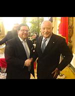 Il Cav. Eugenio Benedetti Gaglio con il presidente di APICES, l'Avv. Massimiliano Albanese