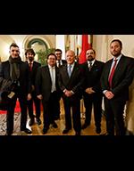 Il Cav. Eugenio Benedetti Gaglio con la delegazione di APICES presente all'evento